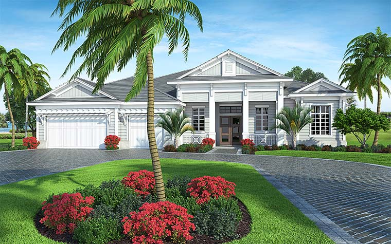 Coastal Florida House Plan 52937
