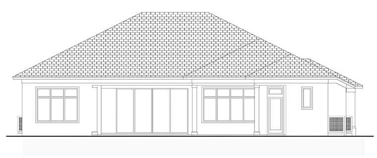 Coastal Florida House Plan 52937 Rear Elevation
