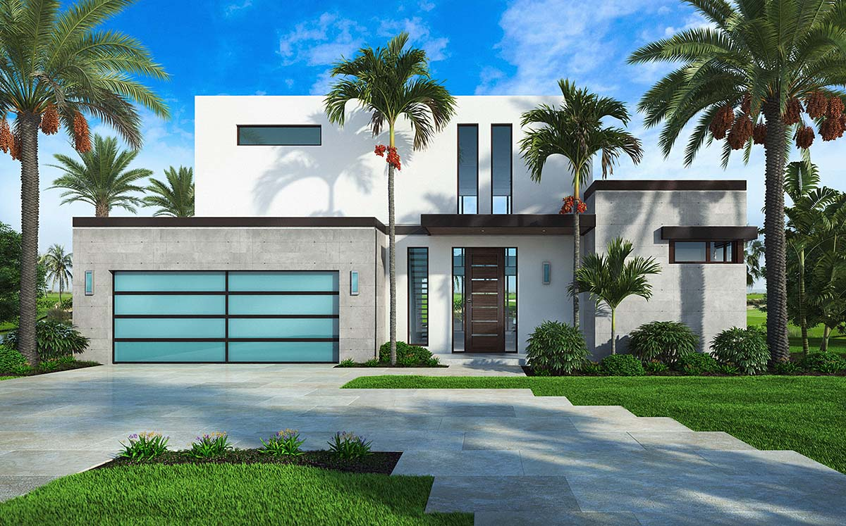 Contemporary Style House Plan 52960 With 4 Bed 5 Bath 2 Car Garage