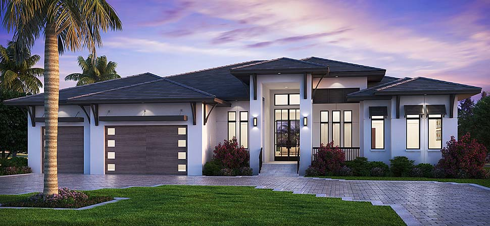 52961 b600 - Download Modern 3 Bedroom House Plans With Garage Pics