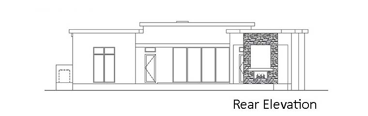 Contemporary, Florida, Modern, Southwest House Plan 52966 with 3 Beds, 4 Baths, 2 Car Garage Rear Elevation