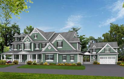 Country, Southern, Traditional House Plan 53019 with 5 Beds, 6 Baths, 3 Car Garage Elevation