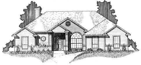 House Plan 53221 with 3 Beds, 2 Baths, 2 Car Garage Picture 1
