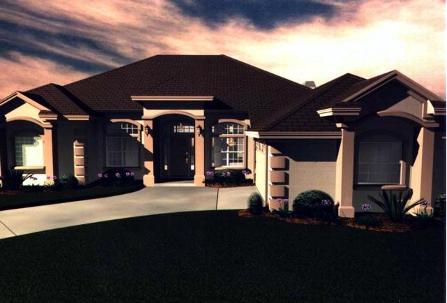 House Plan 53443 Elevation