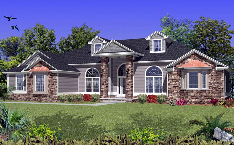 House Plan 53550 Elevation
