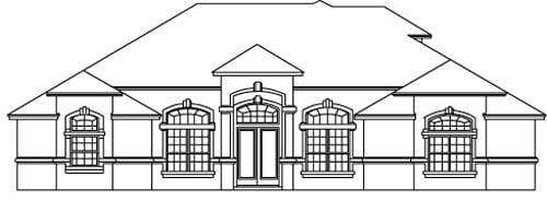 House Plan 53558 Elevation