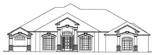 House Plan 53562 Elevation