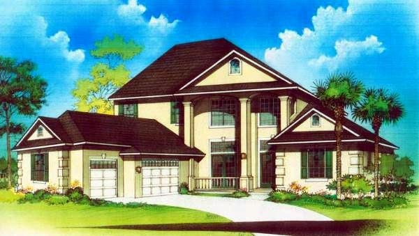 House Plan 53569 Elevation