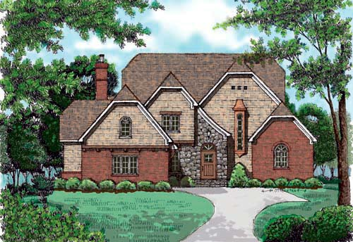 Country European House Plan 53701 Elevation