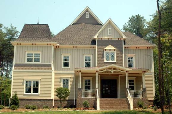 Victorian House Plan 53704 with 4 Beds, 4 Baths, 3 Car Garage Elevation