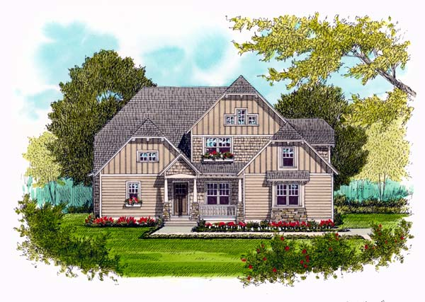 Craftsman House Plan 53718 Elevation