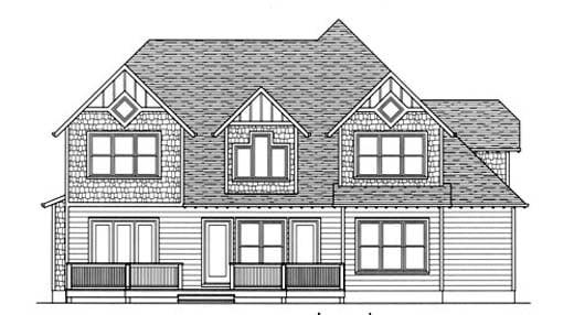 Craftsman House Plan 53718 Rear Elevation