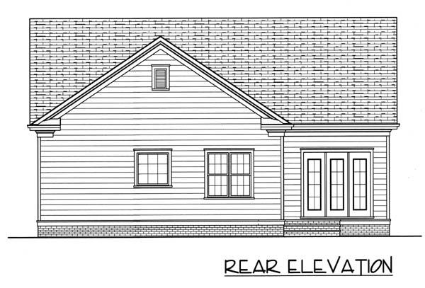 Colonial Farmhouse House Plan 53754 Rear Elevation