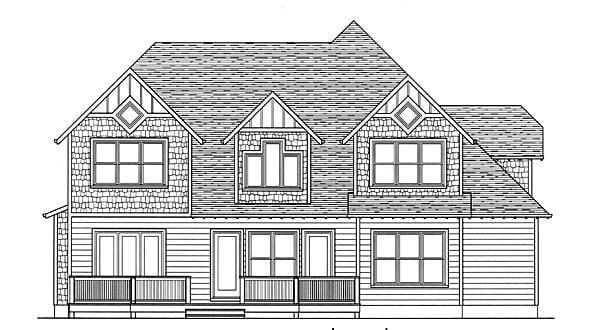Craftsman House Plan 53804 Rear Elevation