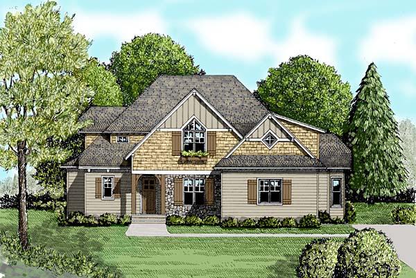 Craftsman House Plan 53811 Elevation