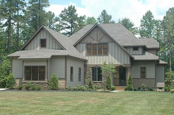 Craftsman House Plan 53816 with 4 Beds, 4 Baths, 2 Car Garage Elevation
