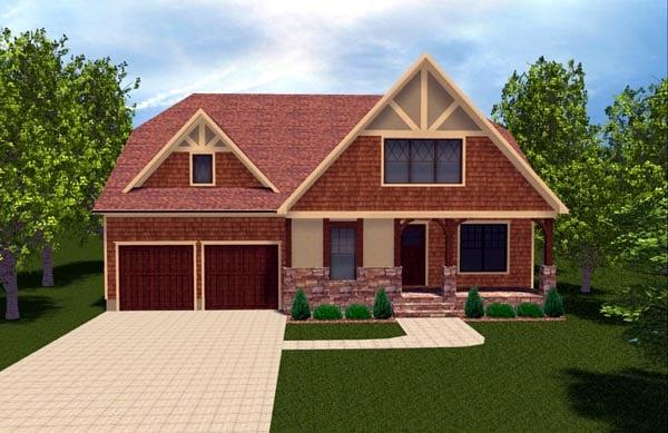Bungalow Craftsman Tudor House Plan 53846 Elevation