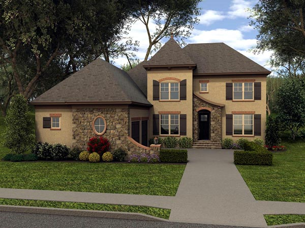 Country House Plan 53848 Elevation