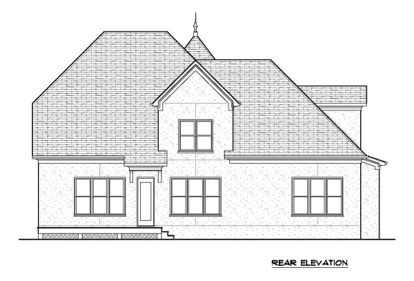 Country House Plan 53848 Rear Elevation