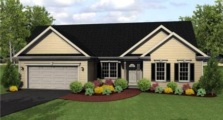 Ranch House Plan 54002 with 3 Beds, 3 Baths, 2 Car Garage