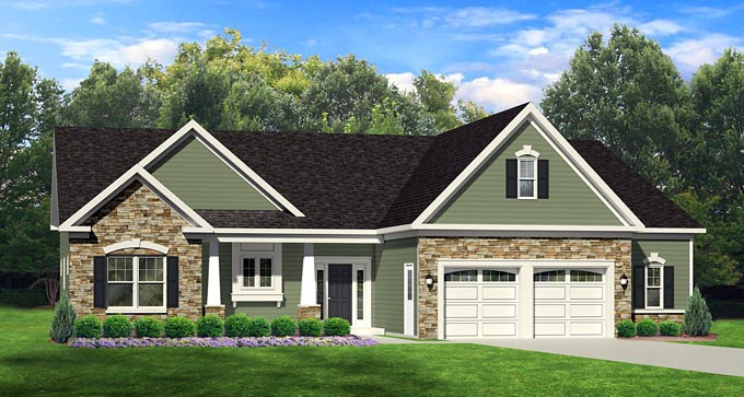 Ranch House Plan 54003