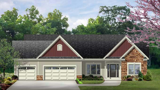 Ranch House Plan 54017 Elevation
