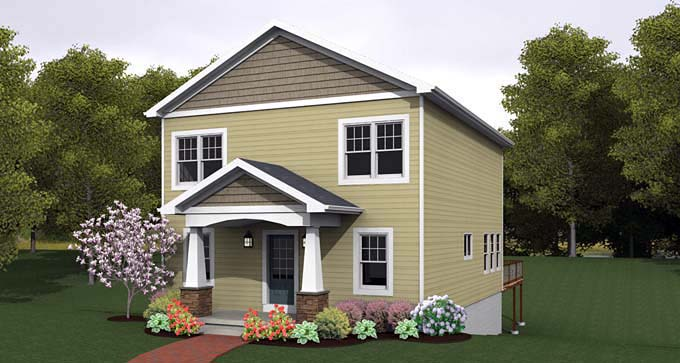 Traditional House Plan 54020 Elevation