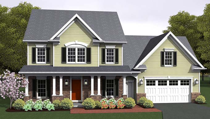 Traditional House Plan 54022 Elevation