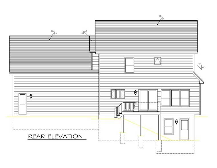 Traditional House Plan 54022 Rear Elevation