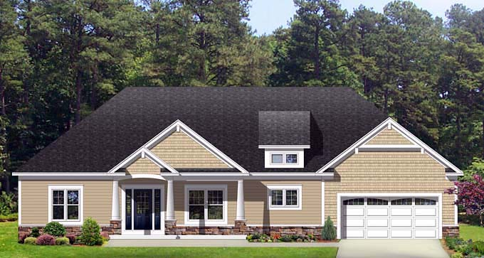 Ranch House Plan 54023 Elevation