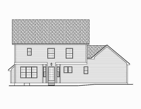 Country Traditional House Plan 54030 Rear Elevation