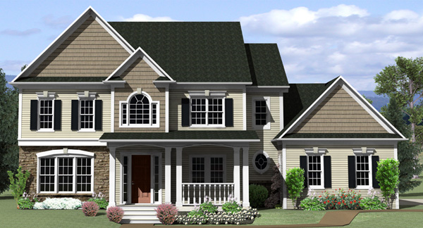 Country Traditional House Plan 54042 Elevation