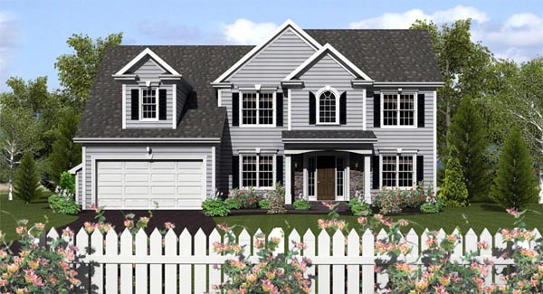 Traditional House Plan 54068 Elevation