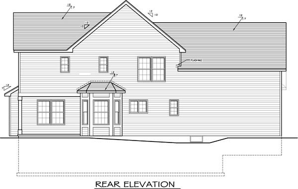 Traditional House Plan 54068 Rear Elevation