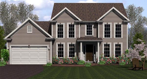 Traditional House Plan 54071 Elevation