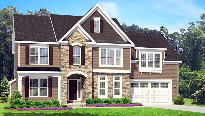 Traditional House Plan 54073 Elevation