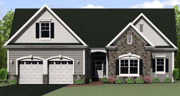 Ranch House Plan 54075 Elevation