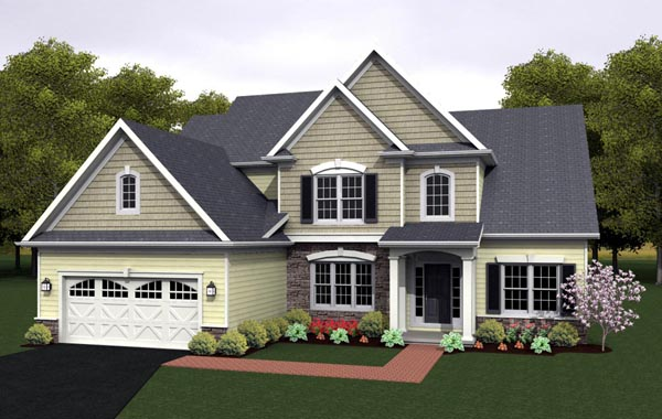 Cape Cod House Plan 54080 Elevation