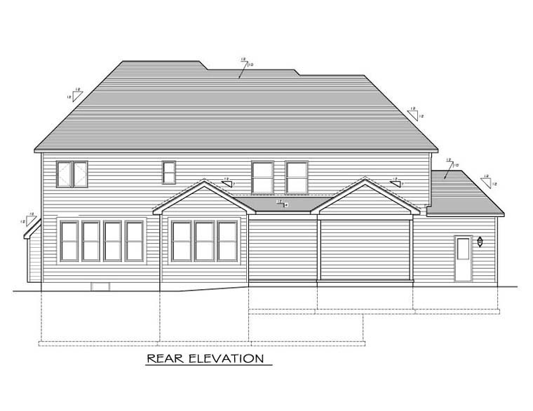 Traditional House Plan 54084 Rear Elevation