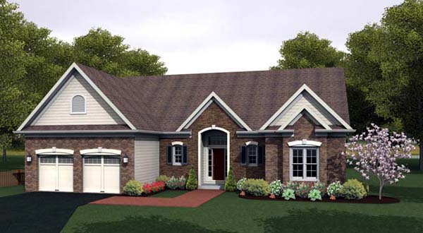 Ranch House Plan 54090 Elevation