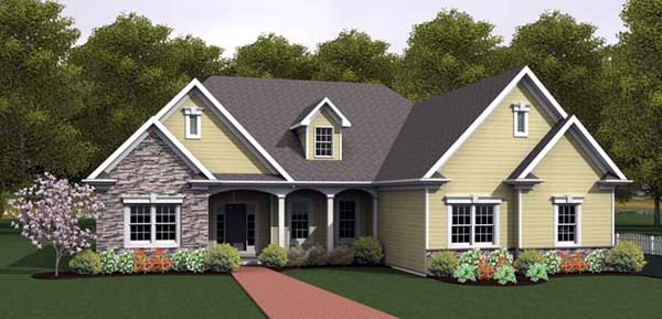 Ranch House Plan 54092