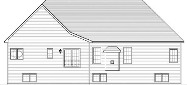 Ranch House Plan 54092 Rear Elevation