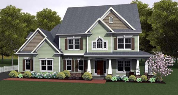 House Plan 54101 with 3 Beds, 3 Baths, 3 Car Garage Elevation