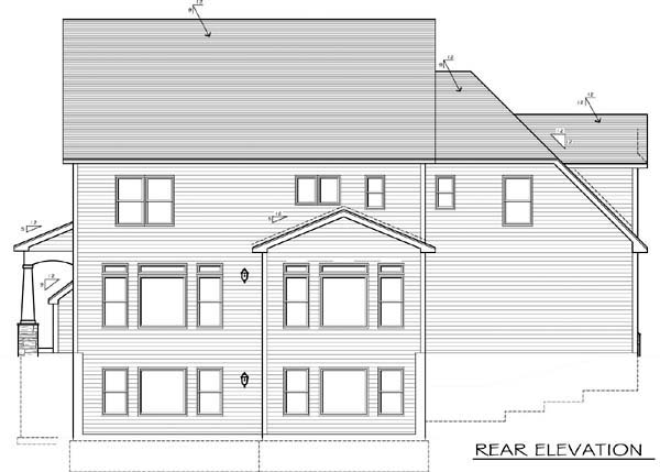 House Plan 54101 Rear Elevation
