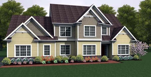 House Plan 54102 Elevation