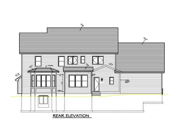 House Plan 54102 Rear Elevation