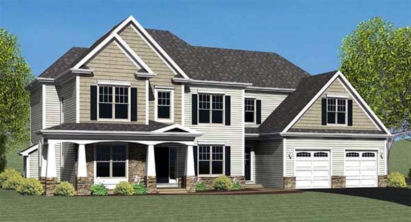 House Plan 54104 Elevation
