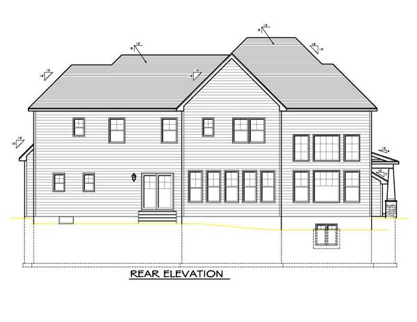 House Plan 54104 Rear Elevation