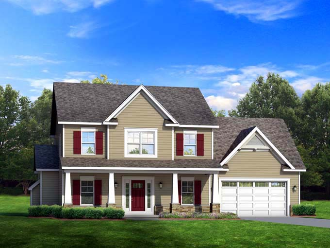 Traditional House Plan 54114 Elevation