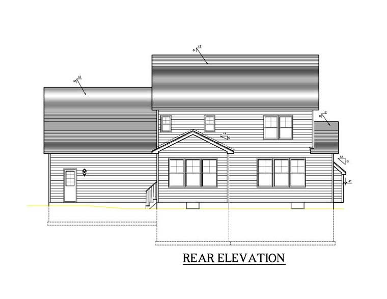 Traditional House Plan 54114 Rear Elevation